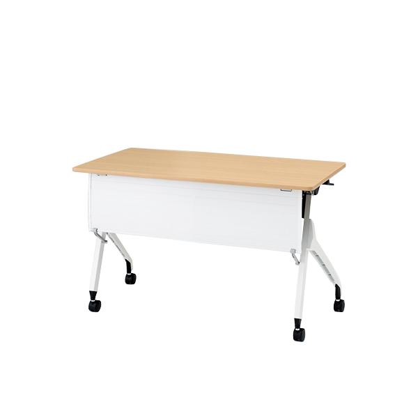 イトーキ折りたたみテーブル スクート 天板抗菌加工 樹脂幕板付タイプ(棚付) 幅120cm 奥行45cm 【自社便 開梱・設置付】