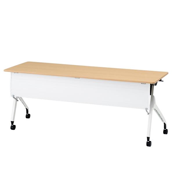 イトーキ折りたたみテーブル スクート 天板抗菌加工 樹脂幕板付タイプ(棚なし) 幅180cm 奥行60cm 【自社便 開梱・設置付】