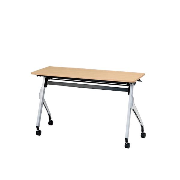 イトーキ折りたたみテーブル スクート 天板抗菌加工 幕板なしタイプ(棚付) 幅120cm 奥行60cm 【自社便 開梱・設置付】