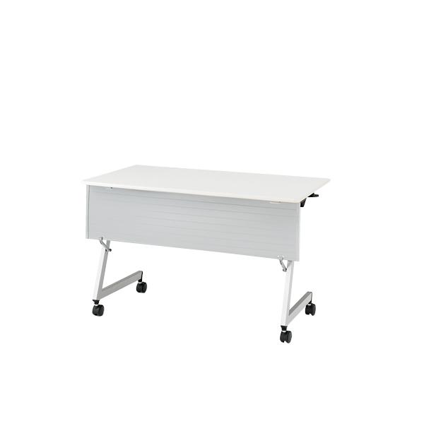 イトーキ 折りたたみテーブル HYシリーズ 天板抗菌加工 幕板付タイプ(棚なし) 幅120cm 奥行45cm 【自社便 開梱・設置付】