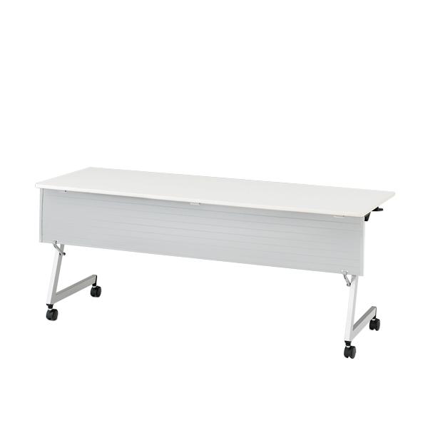 イトーキ 折りたたみテーブル HYシリーズ 天板抗菌加工 幕板付タイプ(棚なし) 幅180cm 奥行60cm 【自社便 開梱・設置付】