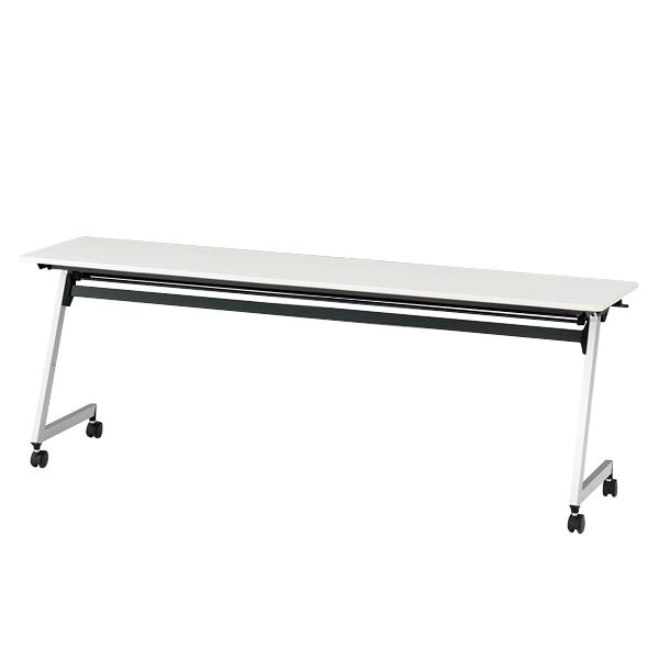 イトーキ 折りたたみテーブル HYシリーズ 天板抗菌加工 幕板なしタイプ(棚付) 幅210cm 奥行45cm 【自社便 開梱・設置付】