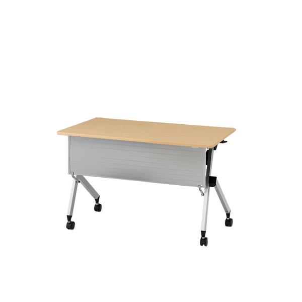 イトーキ 折りたたみテーブル HXシリーズ 天板抗菌加工 幕板付タイプ(棚付) 幅120cm 奥行45cm 【自社便 開梱・設置付】