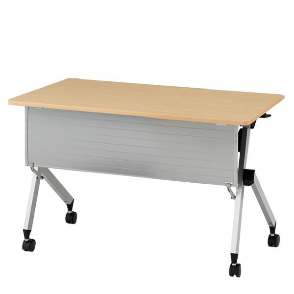 イトーキ折りたたみテーブル HXシリーズ 天板抗菌加工 幕板付タイプ(棚付) 幅120cm 奥行60cm 【自社便 開梱・設置付】