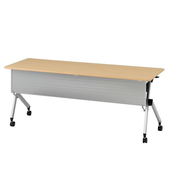 イトーキ 折りたたみテーブル HXシリーズ 天板抗菌加工 幕板付タイプ(棚付) 幅180cm 奥行45cm 【自社便 開梱・設置付】