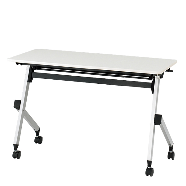 【オフィス机5%OFF-9/27】イトーキ折りたたみテーブル HXシリーズ 天板抗菌加工 幕板なしタイプ(棚付) 幅120cm 奥行45cm 【自社便 開梱・設置付】