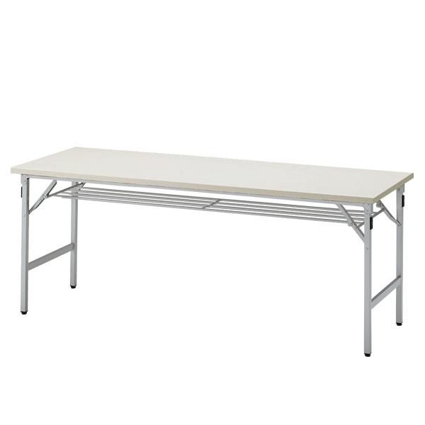 イトーキ 折りたたみテーブルTGシリーズ 棚付きタイプ/W180×D45cm 【自社便/開梱・設置付】