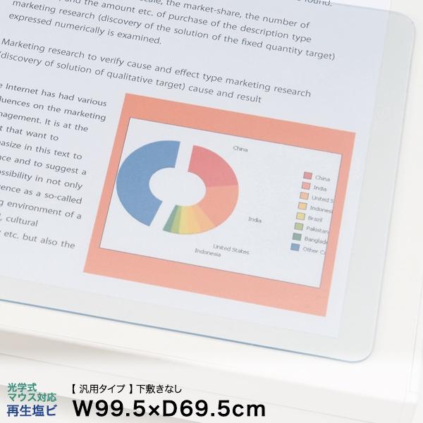 イトーキ デスクマット(汎用タイプ)光学式マウス対応再生塩ビタイプ 下敷きなし 幅99.5×奥行69.5cm【自社便/玄関渡し】