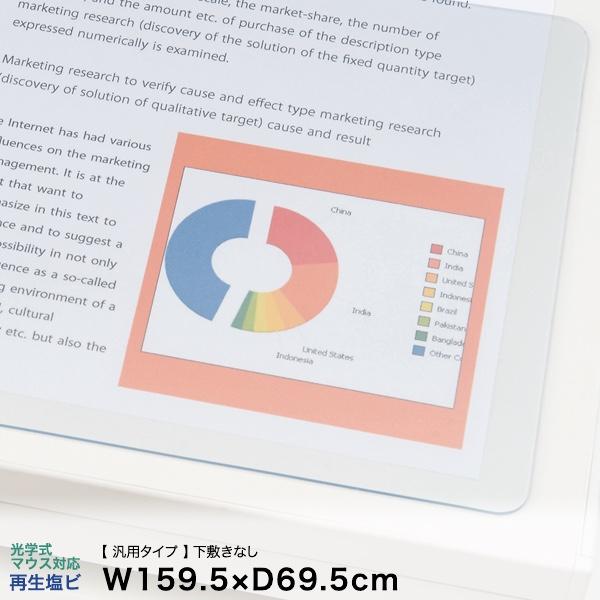 イトーキ デスクマット(汎用タイプ)光学式マウス対応再生塩ビタイプ 下敷きなし 幅159.5×奥行69.5cm【自社便/玄関渡し】