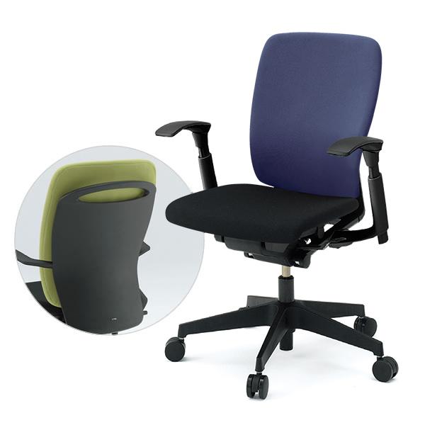 オフィスチェア/ ITOKI(イトーキ) フルゴチェア fulgo ハイバック 布張り コンビカラー 可動肘