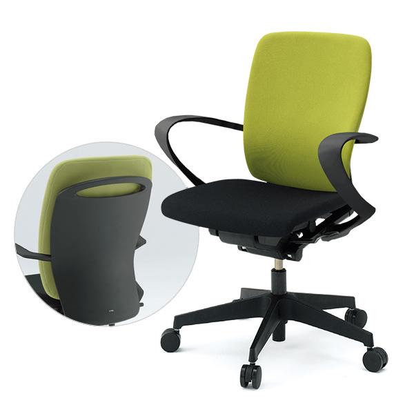 事務椅子/ ITOKI(イトーキ) フルゴチェア fulgo ハイバック 布張り コンビカラー 固定肘