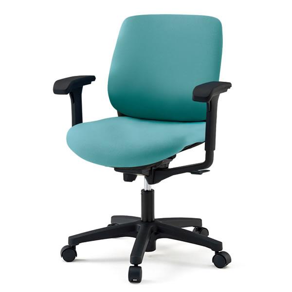 オフィスチェア/ イトーキ トルテRチェア ローバック 布張り(GB張地)/可動肘付/樹脂脚