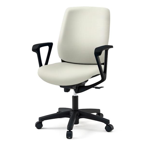 事務椅子/ イトーキ トルテRチェア ハイバック ビニールレザー張り(DL張地)/固定肘付(ループ肘)/樹脂脚