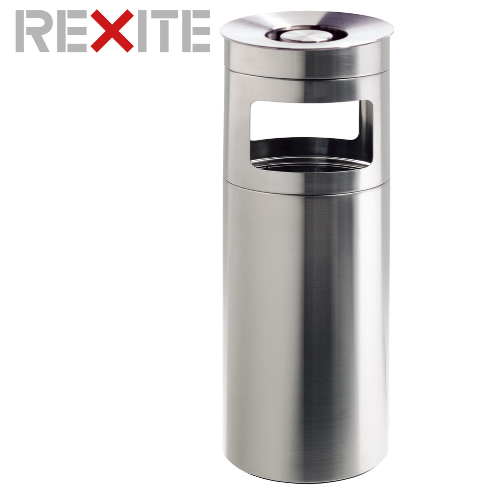 [【3%OFFクーポン】全品11/25限り]灰皿 スタンド フチあり ダストボックス 30L レキサイト NOX 1615 ゴミ袋ホルダー付 アッシュトレイ アッシュスタンド