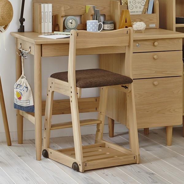 【限定モデル】イトーキ 学習チェア 木製 木製チェア KM26-73SB 布張り ソイナチュラル・スモークブラウン