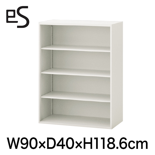 オフィスキャビネット エス キャビネット オープン棚 型 上段用 幅90cm 奥行40cm 高さ118.6cm 色:ホワイト系