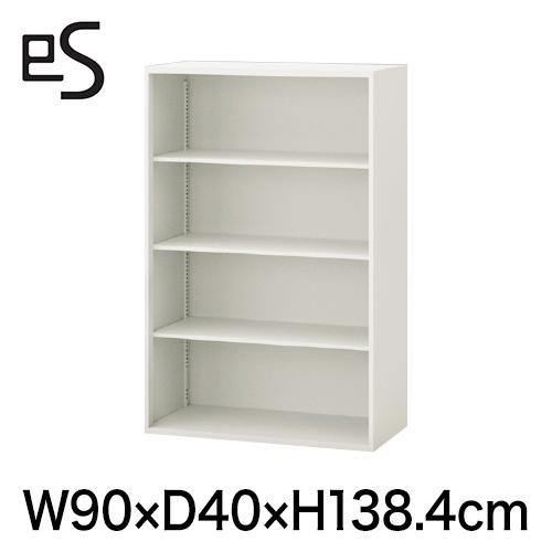 書類収納 エス キャビネット オープン棚 型 上段用 幅90cm 奥行40cm 高さ138.4cm 色:ホワイト系