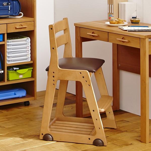イトーキ 学習チェア 木製  木製チェア KM16 ソフトレザー張り