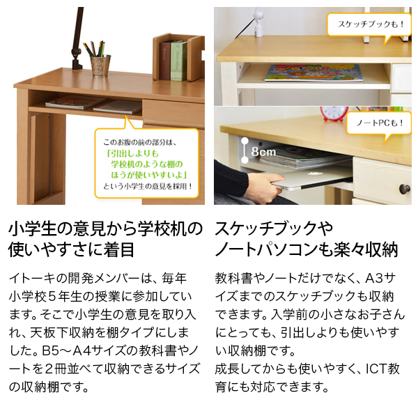 【Web限定】学習机  イトーキ manica マニカ デスク・ラックセット MA-0