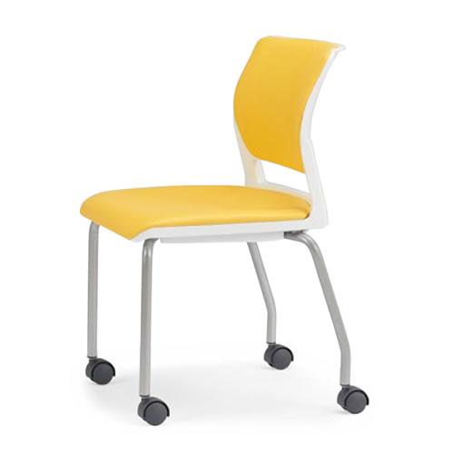 アイコ ミーティングチェア 椅子 会議チェア 肘なし キャスター脚 MC-255