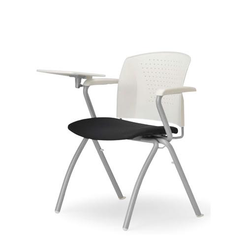 アイコ メモ台付きチェア テーブル付き椅子 イス 両肘付 4本脚 MC-314T