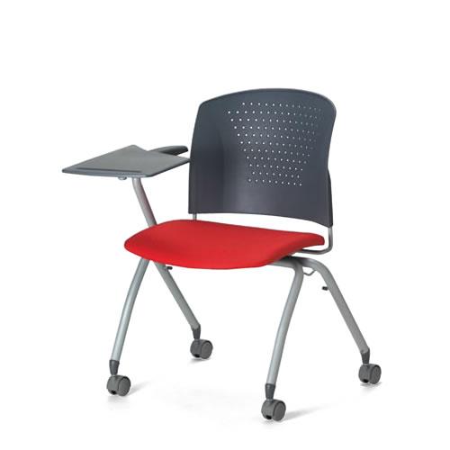アイコ メモ台付きチェア テーブル付き椅子 イス 片肘付 キャスター脚 MC-324T