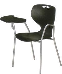 アイコ メモ台付きチェア テーブル付き椅子 イス 肘付 4本脚 ヌードタイプ MC-414T