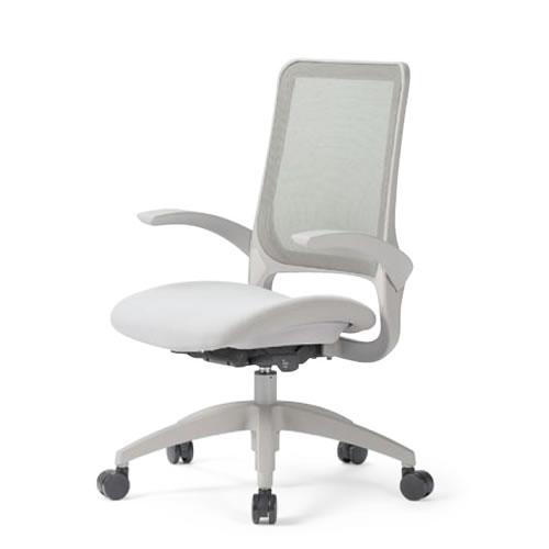 aico アイコ オフィスチェアー 椅子 イス チェア ミドルバック 肘付 MS-1600 座クッション 樹脂脚 MS-1615