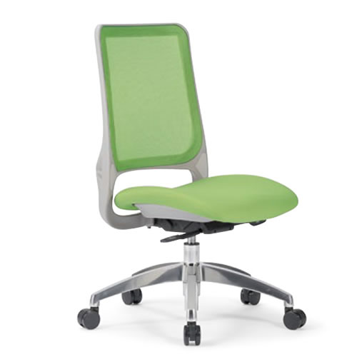 aico アイコ オフィスチェアー 椅子 イス チェア ミドルバック 肘なし MS-1600 座クッション アルミ脚 MS-1685