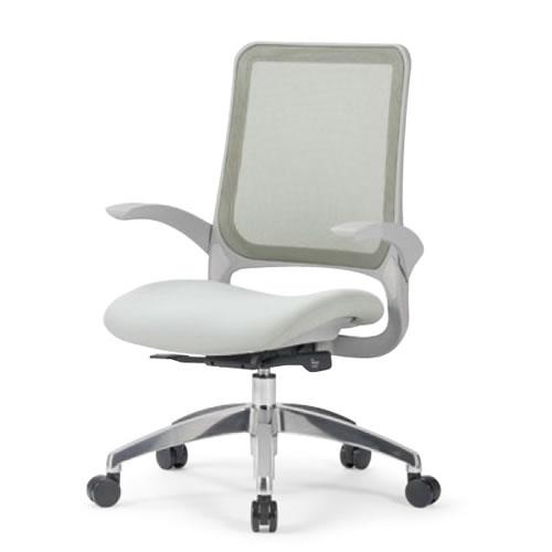 aico アイコ オフィスチェアー 椅子 イス チェア ミドルバック 肘付 MS-1600 座クッション アルミ脚 MS-1695