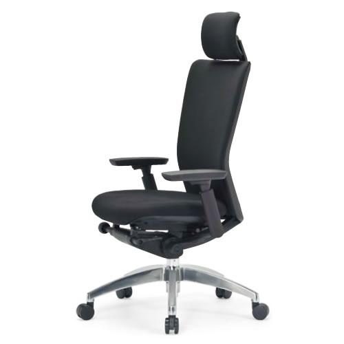 aico アイコ オフィスチェアー 椅子 イス チェア ハイバック 肘付 R-5500シリーズ 背張り付 アルミ脚 R-5575
