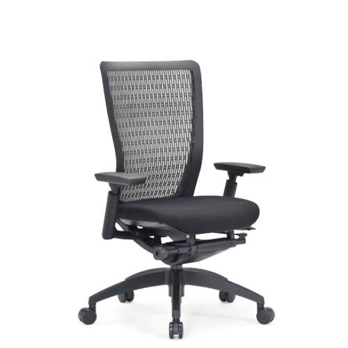 aico アイコ オフィスチェアー 椅子 イス チェア ミドルバック 肘付 5600シリーズ 背樹脂 樹脂脚 R-5615