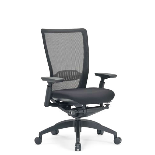 aico アイコ オフィスチェアー 椅子 イス チェア ミドルバック 肘付 5700シリーズ 背メッシュ 樹脂脚 R-5715