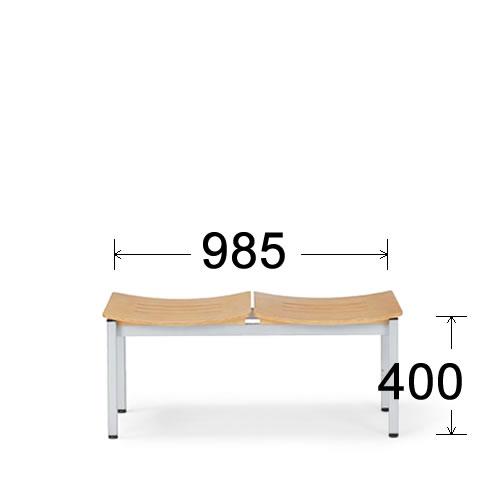 アイコ 病院 待合室 いす ロビーチェア ロビー用 長椅子 イス ロビーベンチ ベンチ 2人掛け ヌードタイプ LC-192B