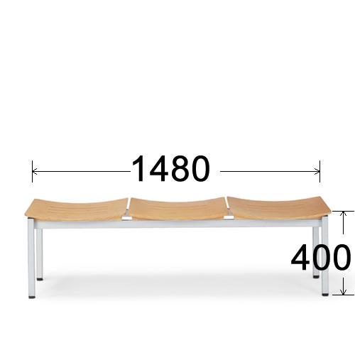 アイコ 病院 待合室 いす ロビーチェア ロビー用 長椅子 イス ロビーベンチ ベンチ 3人掛け ヌードタイプ LC-193B