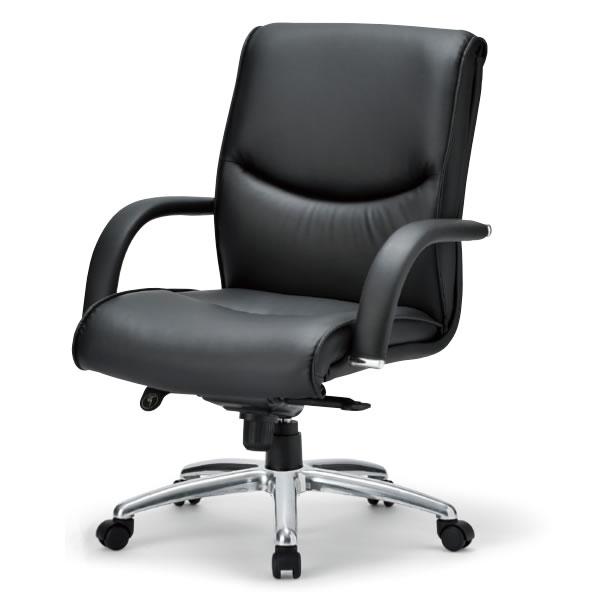アイコ 社長椅子 オフィスチェア RA-4200シリーズ ローバック 皮張り+ビニールレザー張り RA-4205L
