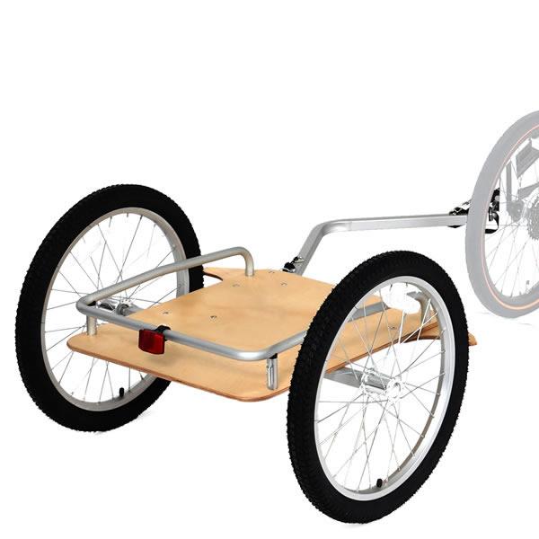 ドッペルギャンガー 自転車 ツーリング牽引用トレーラー ウッディ サイクルトレーラー ナチュラル色 荷車 DOPPELGANGER DCR405-NA
