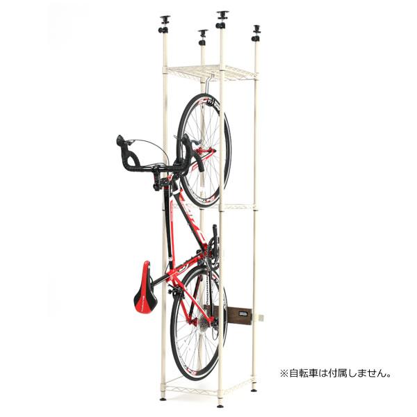ドッペルギャンガー バイシクルハンガースリム 自転車ロードバイク専用 つっぱりスリム縦型収納ラック ベージュ色 DOPPELGANGER DDS560-BG