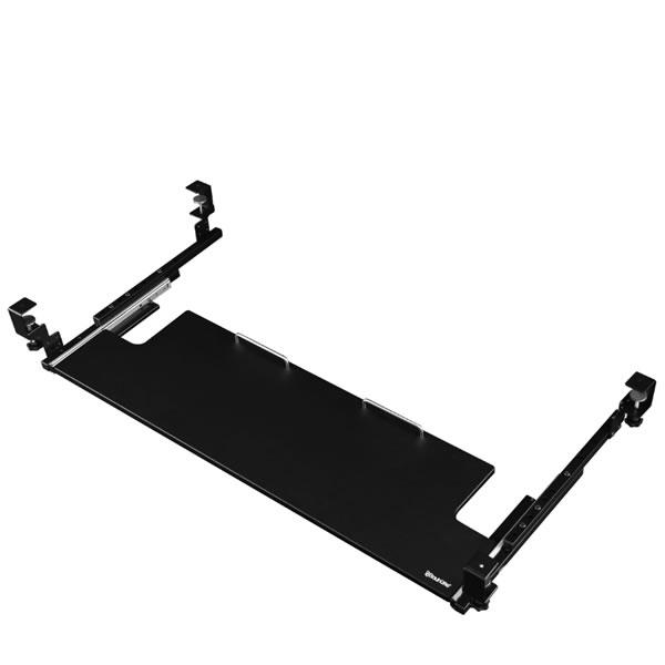 バウヒュッテ Bauhutte 後付けキーボードスライダー ワイド 幅1150×奥行405~705×高さ150mm ブラック BHP-K1000-BK