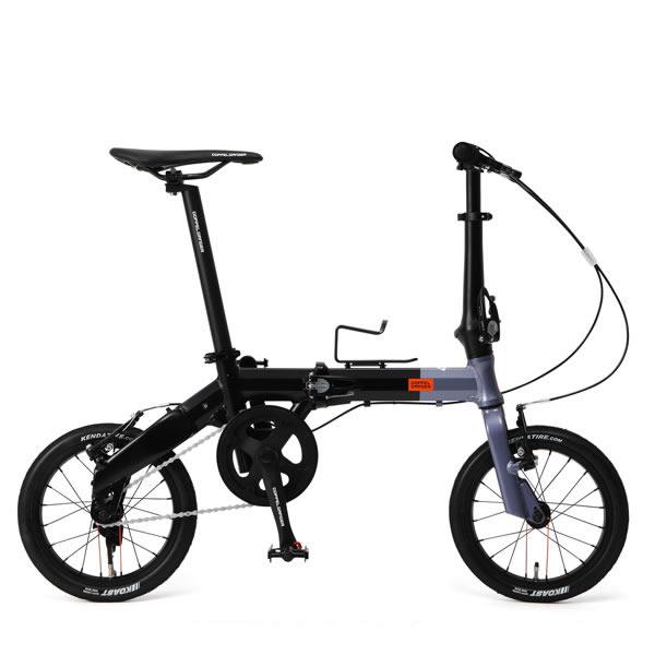 自転車 14インチ 折りたたみミニベロ ドッペルギャンガーHakoVeloハコベロ アルミフレーム メタリックグレー×ブラック DOPPELGANGER 140-H-GY