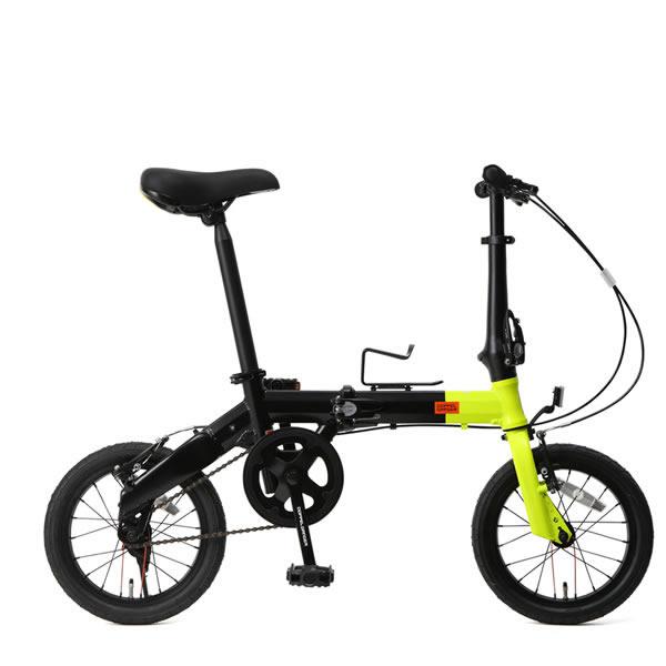 自転車 14インチ 折りたたみミニベロ ドッペルギャンガーHakoVeloハコベロ アルミフレーム ネオンイエロー×ブラック DOPPELGANGER 140-S-YL