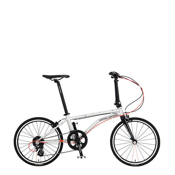 ドッペルギャンガー ミニベロ 20インチ折りたたみ自転車 master-piece マスターピース ソウルメタリックシルバー DOPPELGANGER 266-GY