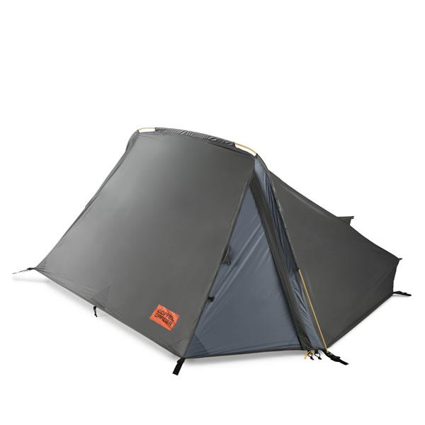 ドッペルギャンガー DOPPELGANGER バックフリップ バイシクルテント グレー色 2ルーム テント 1人用 DBT438-DP