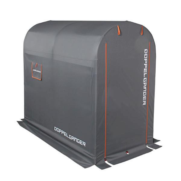 ドッペルギャンガー DOPPELGANGER ストレージバイクガレージ Mサイズ グレー×オレンジ DCC330M-GY