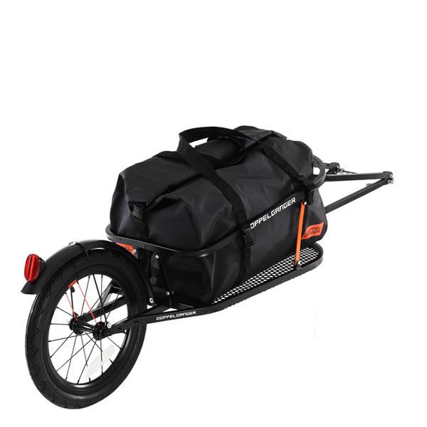 ドッペルギャンガー DOPPELGANGER シングルホイール サイクルトレーラー ブラック 自転車 牽引用 荷車 DCR363-DP