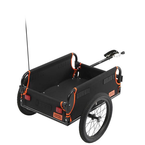 ドッペルギャンガー DOPPELGANGER マルチユース サイクルトレーラー ブラック×オレンジ 自転車 牽引用 荷車 DCR434-DP