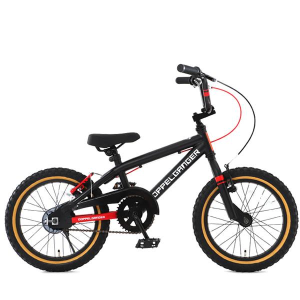 子供用 自転車 補助輪付き 16インチBMX ドッペルギャンガー Cypherサイファー ブラック×レッド DXR16-RD