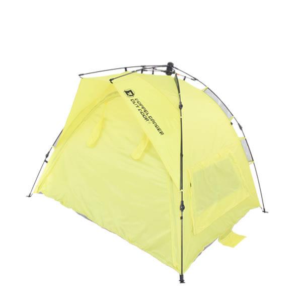 テント ワンタッチレジャーシェード 3人用 簡単設置 シェルター機能 耐水圧 エントランスシート UVカット50+ ドッペルギャンガーアウトドア BE-T3-52