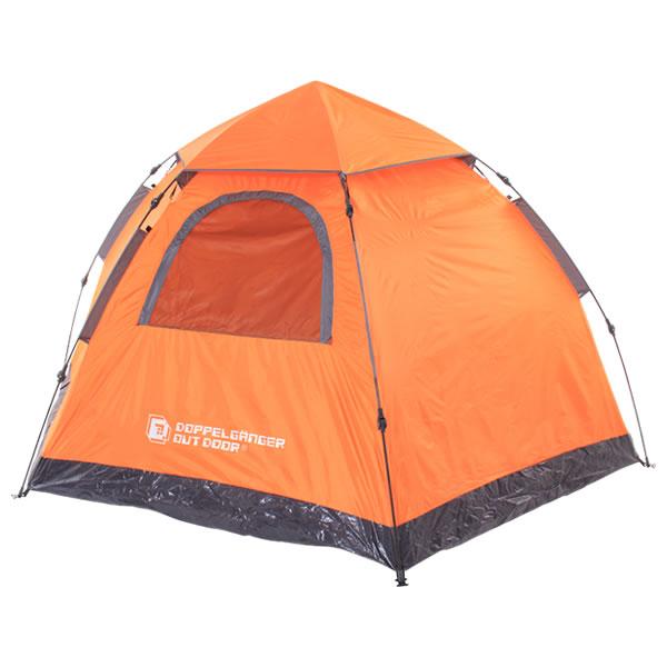 テント ワンタッチテント 4人用 耐水圧1500mm ドッペルギャンガーアウトドア T5-31