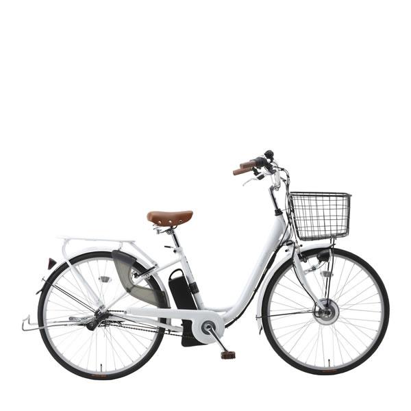 自転車 SUISUI スイスイ 26インチ電動アシスト軽快車 3段変速 ホワイト ミムゴMIMUGO BM-P10WH